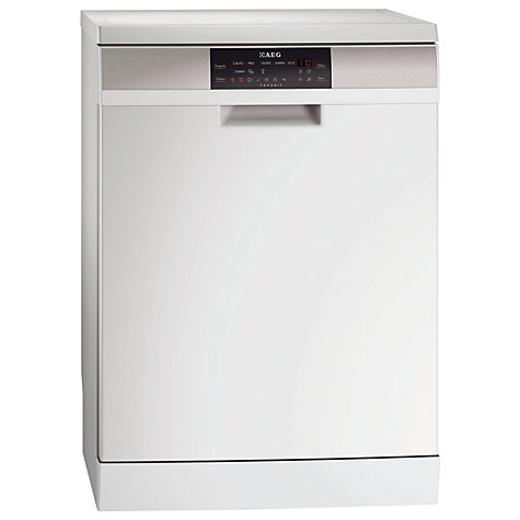 Buy AEG F88072W0P Dishwasher, White Online at johnlewis.com