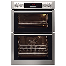 Buy AEG DE4003000M Double Electric Oven, Stainless Steel Online at johnlewis.com