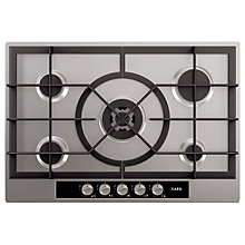 Buy AEG HG755440SM Gas Hob, Stainless Steel Online at johnlewis.com