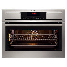 Buy AEG KE8404001M Compact Single Electric Oven, Stainless Steel Online at johnlewis.com
