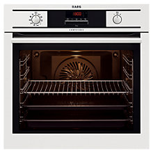 Buy AEG BP5304001W Single Electric Oven, White Online at johnlewis.com