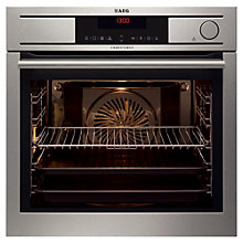 Buy AEG BS7304001M Single Electric Oven, Stainless Steel Online at johnlewis.com