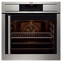 Buy AEG BP8615001M Single Electric Oven, Stainless Steel Online at johnlewis.com