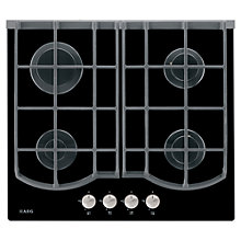 Buy AEG HG694340NB Gas Hob, Black Online at johnlewis.com
