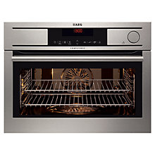 Buy AEG KS8404001M Compact Single Electric Oven, Stainless Steel Online at johnlewis.com