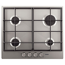 Buy AEG HG654320NM Gas Hob, Stainless Steel Online at johnlewis.com