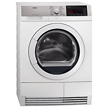 Buy AEG T96699IH Sensidry Condenser Tumble Dryer, 9kg Load, A Energy Rating, White Online at johnlewis.com
