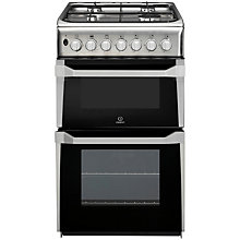 Buy Indesit IT50DXXS Dual Fuel Cooker, Stainless Steel Online at johnlewis.com