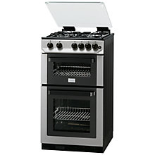 Buy Zanussi ZCG563FX Gas Cooker, Stainless Steel Online at johnlewis.com