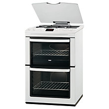 Buy Zanussi ZCG662GWC Gas Cooker, White Online at johnlewis.com