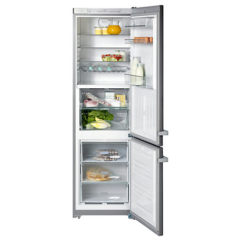Buy Miele KFN12927SDedt/cs Fridge Freezer, A+ Energy Rating, 60cm Wide, Clean Steel Online at johnlewis.com