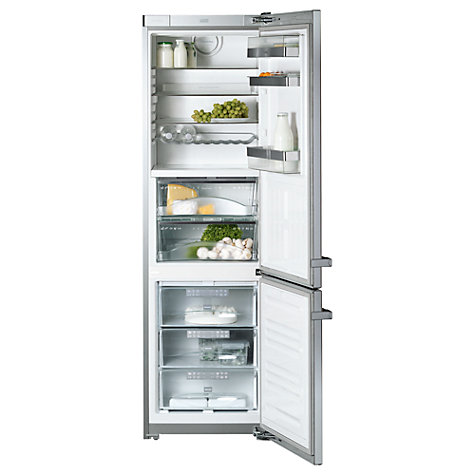 Buy Miele KFN14927SDedt/cs-1 Fridge Freezer, A++ Energy Rating, 60cm Wide, Clean Steel Online at johnlewis.com