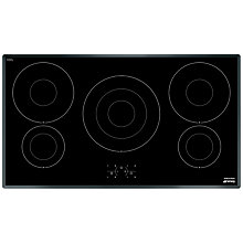 Buy Smeg SI3950B Induction Hob, Black Glass Online at johnlewis.com