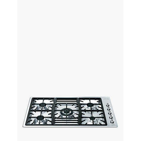 Buy Smeg PGF95-4 Gas Hob, Stainless Steel Online at johnlewis.com