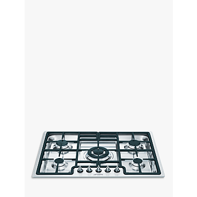 Image of Smeg PGF75-4 Gas Hob, Stainless Steel