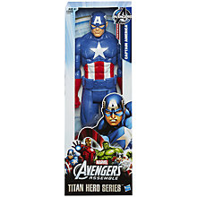 Buy Marvel Avengers Assemble Titan Captain America Figure Online at johnlewis.com