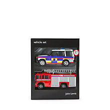 Buy John Lewis Emergency Vehicles Set Online at johnlewis.com