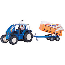 Buy John Lewis Farm Tractor, Blue Online at johnlewis.com