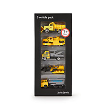 Buy John Lewis Construction Vehicles, Pack of 5 Online at johnlewis.com