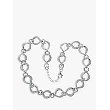 Buy Nina B Sterling Silver Twisted Open Link Necklace Online at johnlewis.com
