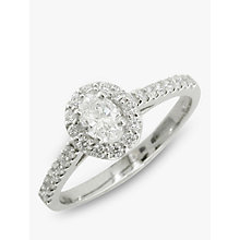 Buy EWA Platinum 0.62ct Oval Cut Diamond Cluster Engagement Ring, N Online at johnlewis.com