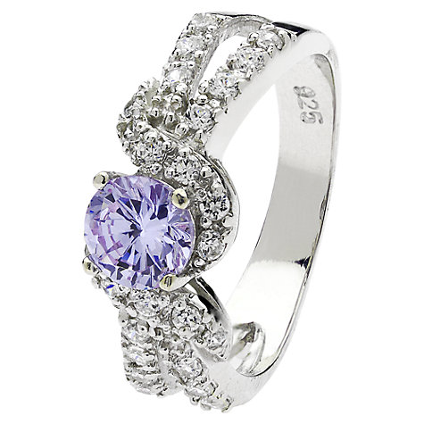 Buy Jou Jou Sterling Silver Cubic Zirconia Pave Dress Ring, Lavender Online at johnlewis.com