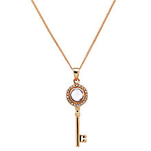Buy Jou Jou Sterling Silver Cubic Zirconia Key Drop Pendant, Rose Gold Online at johnlewis.com