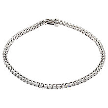 Buy Jou Jou Sterling Silver Cubic Zirconia Tennis Bracelet Online at johnlewis.com