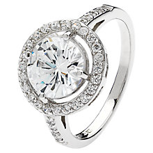 Buy Jou Jou Sterling Silver Round Cubic Zirconia Ring, N Online at johnlewis.com