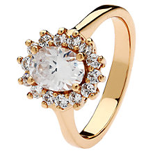 Buy Jou Jou Sterling Silver Oval Cubic Zirconia Ring, Rose Gold Online at johnlewis.com