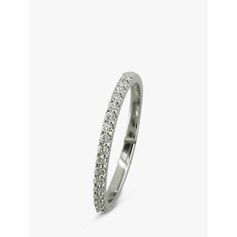 Buy EWA Platinum 17 Diamond 0.20ct Half Eternity Ring, N Online at johnlewis.com