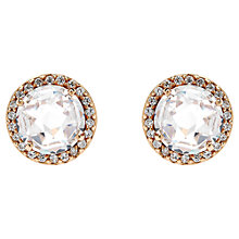 Buy Jou Jou Sterling Silver Round Cubic Zirconia Stud Earrings, Rose Gold Online at johnlewis.com