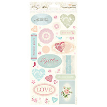 Buy Docrafts Papermania Vintage Notes Card Stickers, Pack of 29 Online at johnlewis.com