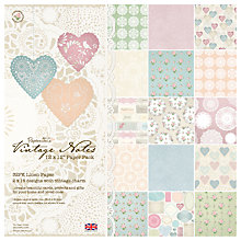 Buy Docrafts Vintage Notes Paper, Pack of 32 Online at johnlewis.com