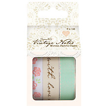 Buy Papermania Vintage Notes Woven Fabric Tapes, Pack of 3 Online at johnlewis.com