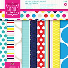 Buy Docrafts Papermania Capsule Collection Spots and Stripes Paper, Pack of 32 Online at johnlewis.com
