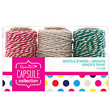 Buy Docrafts Papermania Capsule Collection Bakers Twine, Pack of 3 Online at johnlewis.com