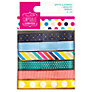 Docrafts Papermania Capsule Collection Spots and Stripes Ribbons, Pack of 6, Multi