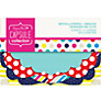 Docrafts Papermania Spots and Stripes Die-Cut Decorations, Pack of 18