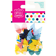 Buy Docrafts Papermania Capsule Collection Spots and Stripes Bows, Pack of 20, Multi Online at johnlewis.com