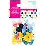 Docrafts Papermania Capsule Collection Spots and Stripes Bows, Pack of 20, Multi