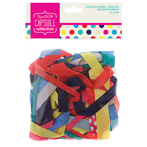 Buy Docrafts Papermania Capsule Collection Spots and Stripes Assorted Ribbons, Pack of 20, Multi Online at johnlewis.com