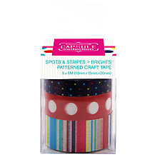 Buy Docrafts Papermania Capsule Collection Patterned Craft Tape, Pack of 3, Multi Online at johnlewis.com