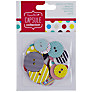 Docrafts Papermania Capsule Stripe and Spot Buttons, Pack of 24
