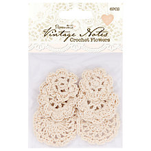 Buy Docrafts Papermania Vintage Notes Crochet Flowers, Pack of 6 Online at johnlewis.com
