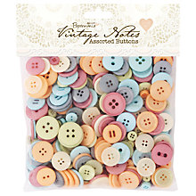 Buy Docrafts Papermania Vintage Notes Assorted Buttons, 250g Online at johnlewis.com