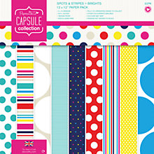 Buy Docrafts Papermania Capsule Collection Spots and Stripes Paper Pack, Multi Online at johnlewis.com