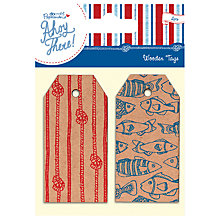Buy Docrafts Papermania Ahoy There Wooden Tags, Pack of 2 Online at johnlewis.com
