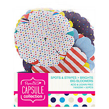 Buy Docrafts Papermania Capsule Collection Spots and Stripes Big Bloomers, Pack of 32 Online at johnlewis.com
