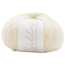 Buy Sirdar Sublime Baby Cashmere Mernino Silk DK Yarn, 50g, Vanilla 003 Online at johnlewis.com